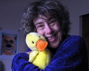 Ali and her duck