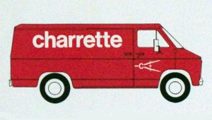 The famous Charrette red van