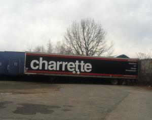 the Charrette trailer with the unforgettable Charrette brand