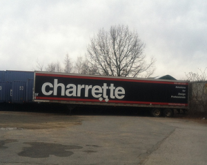 the Charrette trailer with the unforgettable Charrette brand