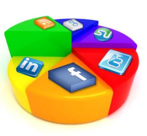 The social media pie